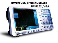 "OWON 200Mhz Oscilloscope SDS7202V 1G/s 8"" LAN VGA free firmware upgrade + Leads"