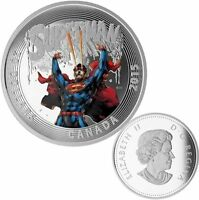 2015 $20 Superman Comics #28 Canada - .9999 Fine Silver Coin Mint in Package