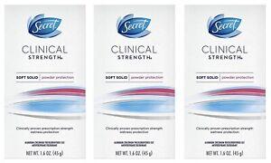 Secret Clinical Strength Soft Solid Deodorant, Light & Fresh (1.6 Oz. 3PK)