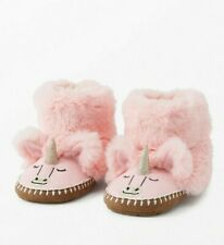 NWT Hanna Andersson Critter Plush Pink Unicorn Boot Slippers 7-8, 2-3Y, 4-5Y