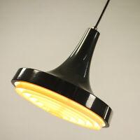 Philps Pendel Leuchte Trompete Hänge Lampe grau Vintage Pendant 60er 70er #1/2