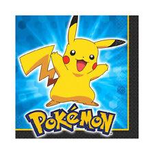 "16 Pikachu & Friends Pokemon Birthday Party Disposable 5"" Beverage Napkins"