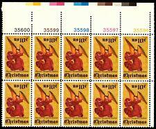 Christmas - Angel - Scott #1550 Plate Block of 10 Stamps MNH
