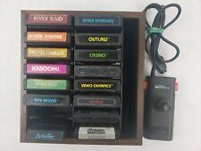 Sears Video Arcade II Controller Atari w/15 Games + Cartridge Case Not Tested