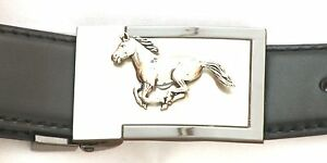 Running Horse Belt Buckle and Leather Belt in Gift Tin Ideal Hunting Gift 189