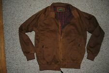 Men's Orvis Waxed WeatherBreaker Jacket Brown Size Medium Zip Front MINT
