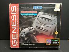 Sega Genesis Model 2 Black Console Complete Boxed System Columns Bundle