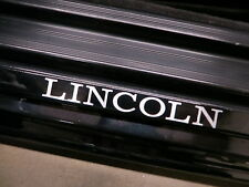 (2pcs) LINCOLN doorstep badge decal