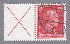 Dt. Reich Zusammendruck W 23  gestempelt