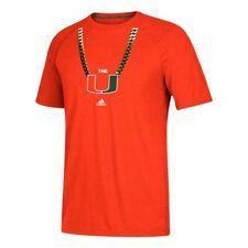 Miami Hurricanes NCAA Adidas Men's Orange Primary Chain T-Shirt