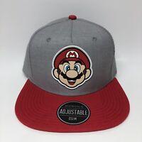 Nintendo Super Mario Bros Smiling Mario Patch Hat Cap Bioworld Snapback