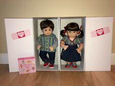 American Girl BITTY TWINS 2B 2G BROWN HAIR Brown Eyes Twin BOY GIRL DOLL - NEW