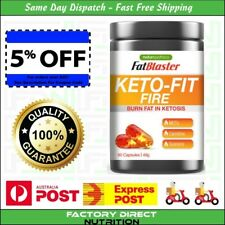 Fat Blaster Naturopathica Keto-Fit Fire Burn Max Fat in Ketosis 60 Capsules NEW