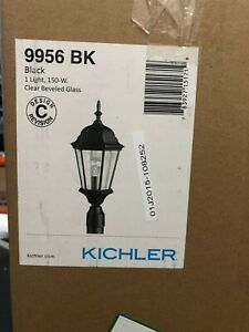 Kichler Madison 1-Light Outdoor Post Lantern Black 9956 BK