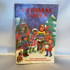 Vintage Christmas Carols Sheet Music Song Book Illustrations Piano Voice Guitar