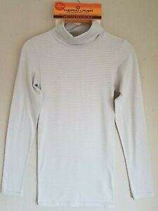 Ladies   thermal long sleeve roll neck top size 8-10 S 12-14 M