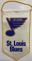 "Vintage 1980's ST. LOUIS BLUES 10"" NHL Hockey Sports Pennant RARE"