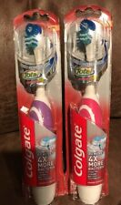 Colgate 360 Total Toothbrush Advanced Battery Power Assorted Color SOFT LOT OF 2