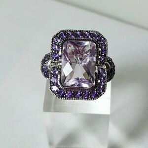 HSN Sima K 7.04ct Rose de France-Purple Amethy SZ 9