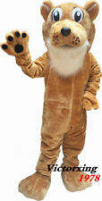 Deluxe Corby Cougar Mascot Costume Halloween Fancy Suit Free Shipping