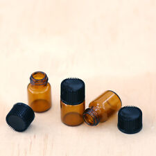 x12 of 2ml sample jars (empty) glass amber bottles pots for aromatherapy oils