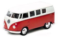 VW Microbus (1962) rouge/blanc, Welly Modèle Auto environ 1:38, Neuf