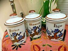 More details for vintage french stoneware   herb pots  kitchenalia/vinterior     good condition