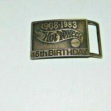 Vintage Mattel Hot Wheels 15th Anniversary 1968-1983 Belt Buckle Ex. Cond.