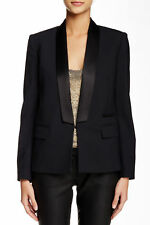 Women's Maje wool-silk jacket blazer black color size FR 40 UK 10/12 BNWOT