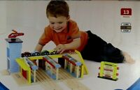 Wood Grand Central Station Bigjigs Rail 13 Pieces ages 3+ NEW Childs Wooden Toy