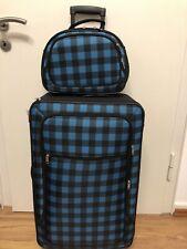 Kofferset 2 teilig Petrol und Schwarz Koffer Urlaub Reisetasche Reisen