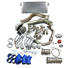 """GT45 Turbo Intercooler Piping Kit 3.5"""" Downpipe Manifold For S13 S14 LS1 LSx ..."""