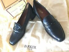 Ladies Barker Flex blk Nappa Rebecca leather slip on loafer type court shoes
