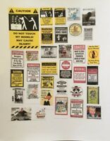 gas and oil decals 1-18 1-24 1-43 1-64 scale diorama vintage sign decals