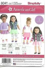 """Simplicity Sewing Pattern 8041 American Girl 18"""" Doll Pattern NEW"""