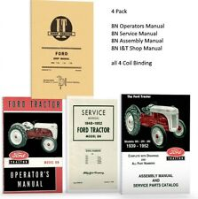 LOT 4  FORD 8N TRACTOR MANUALS SHOP OPERATORS PARTS CATALOG SERVICE REPAIR OWNER