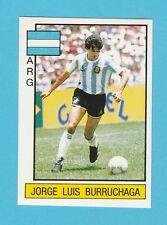 FOOTBALL - PANINI - SUPERSPORT STICKER NO. 58 - BURRUCHAGA  OF ARGENTINA - 1987