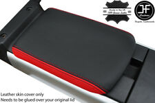 BLACK & RED TOP GRAIN REAL LEATHER REAR ARMREST COVER FOR MAZDA RX8 2003-2012