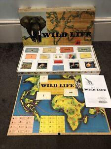 Rare Vintage 1965 Spears Wildlife Board Game Christmas VGC WWF