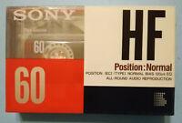 MC Musicassetta SONY HF 60 hf60 vintage cassette audio tape no agfa basf ampex