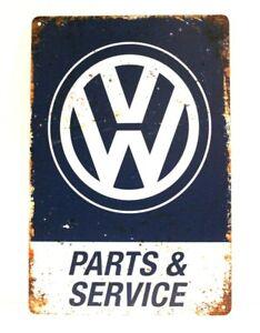 Volkswagen Tin Sign Art Vintage Style Man Cave Garage Auto Car Parts Service VW