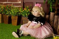 "22"" Lifelike Bambole Reborn Dolls Baby Vinile Rinascere Bambino Kids Girl Doll"