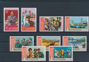 LN81820 Albania communist party tools & weapons fine lot MNH
