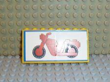 LEGO ® Town Classic 6373 Panel con adesivo moto ba02pb01 k284