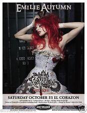 """EMILIE AUTUMN 2009 """"THE ASYLUM TOUR"""" SEATTLE CONCERT POSTER - Fairy Pop Cabaret"""