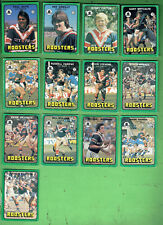 #D435.  1978 EASTERN SUBURBS SCANLENS RUGBY LEAGUE CARDS,  ALL 13 CARDS