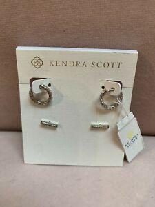 Kendra Scott Maggie Earrings Set - Rhodium - NWT & Dustbag