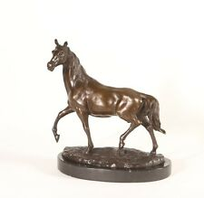Bronze Horse on a Solid Marble Base. Horse Lovers Gift Sculpture, Art, Ornament.