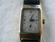 Muy Raro 9k Oro Art Deco J.W. Benson Caballeros Reloj c1930s con movimiento cyma 335