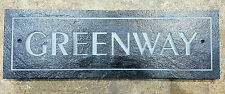 Engraved Plaques In Slate House Name bespoke personalised Sign